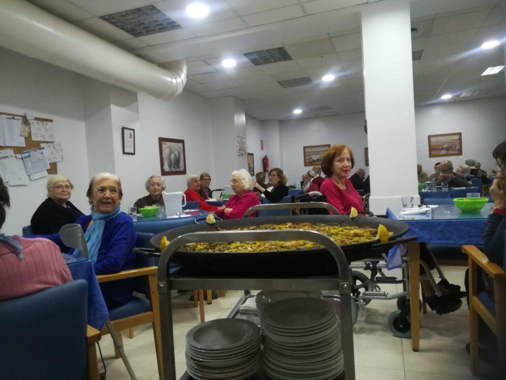 Paella centro de día abastos mayores ancianos tercera edad valencia